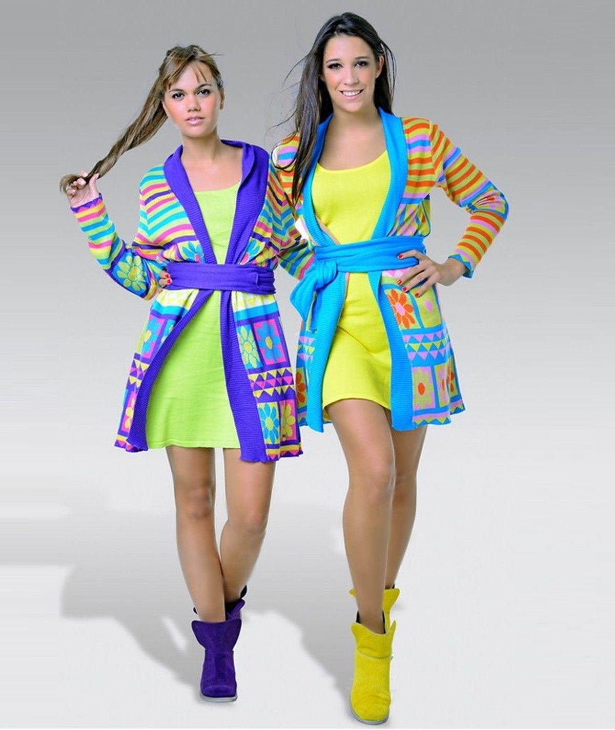 Knit dress with shoulder...
