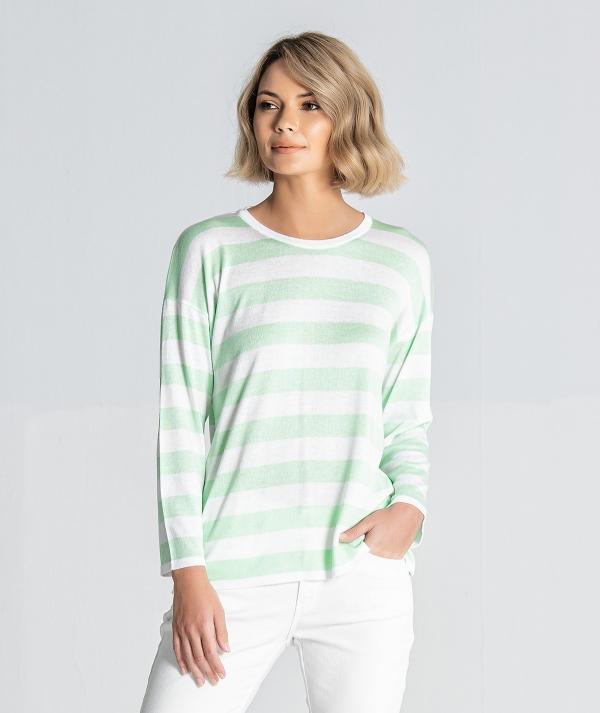 Striped sweater...
