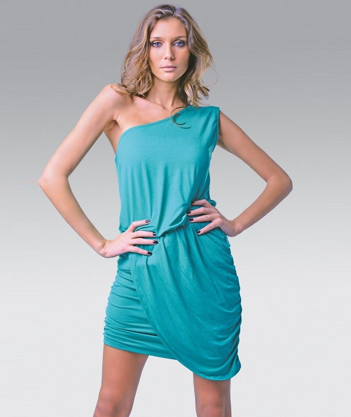 Draped and asymmetrical dress