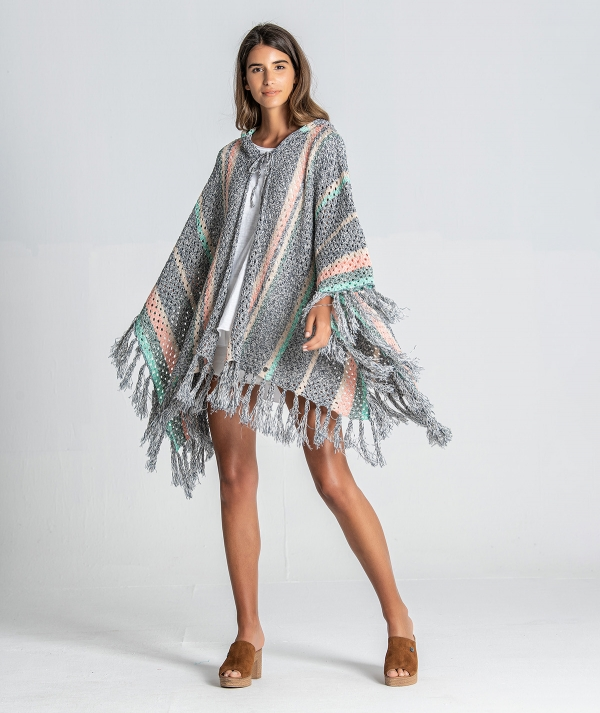 Perforated poncho...