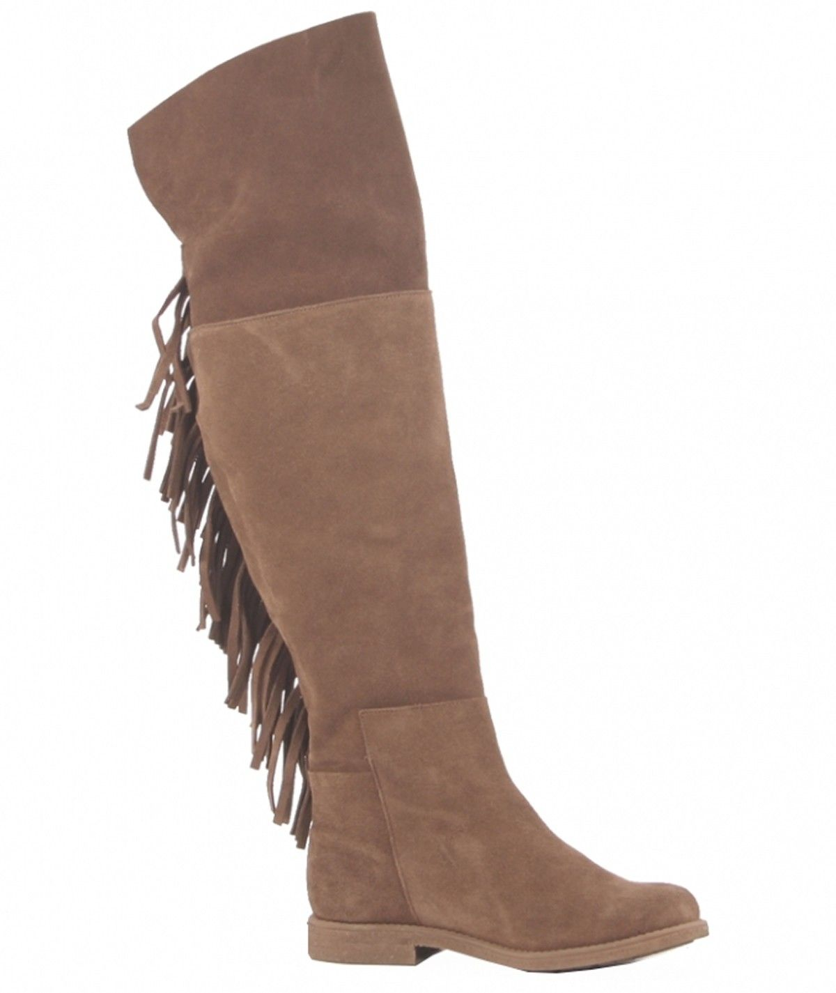 High boots with fringes