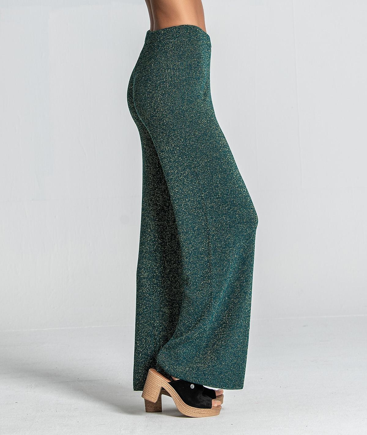 Calça tricot brilho