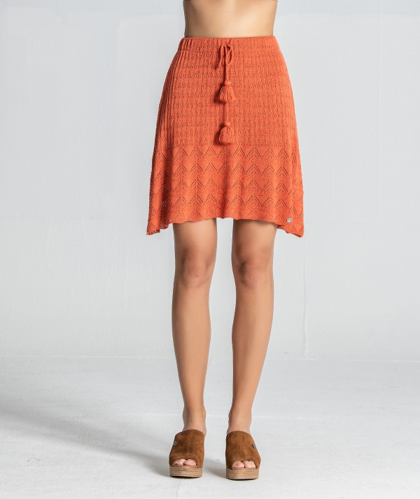 Mini skirt with cord