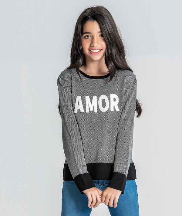 Sweater with amor...