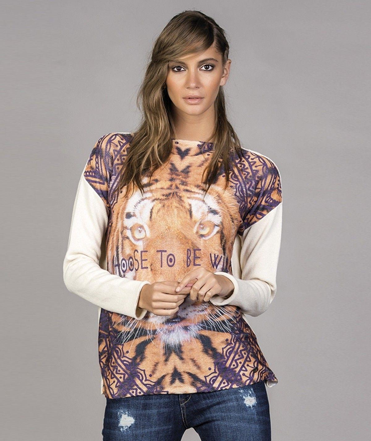 Camisola com sublimado tigre