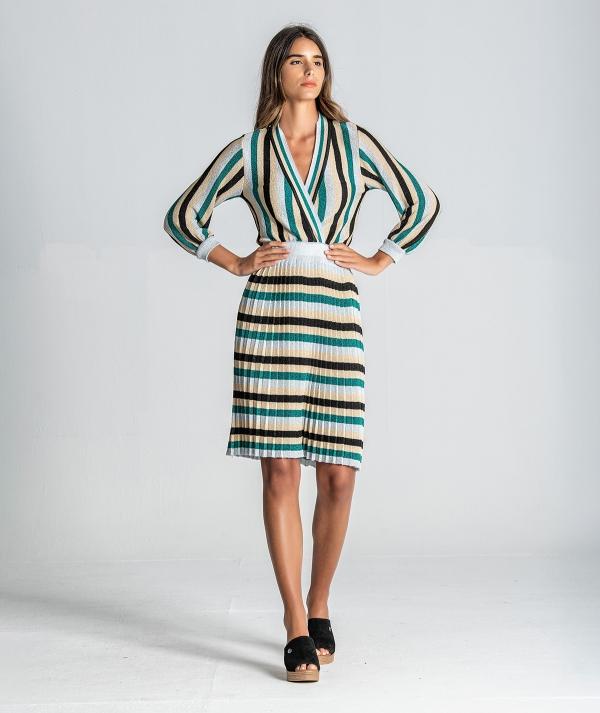 Striped dress...