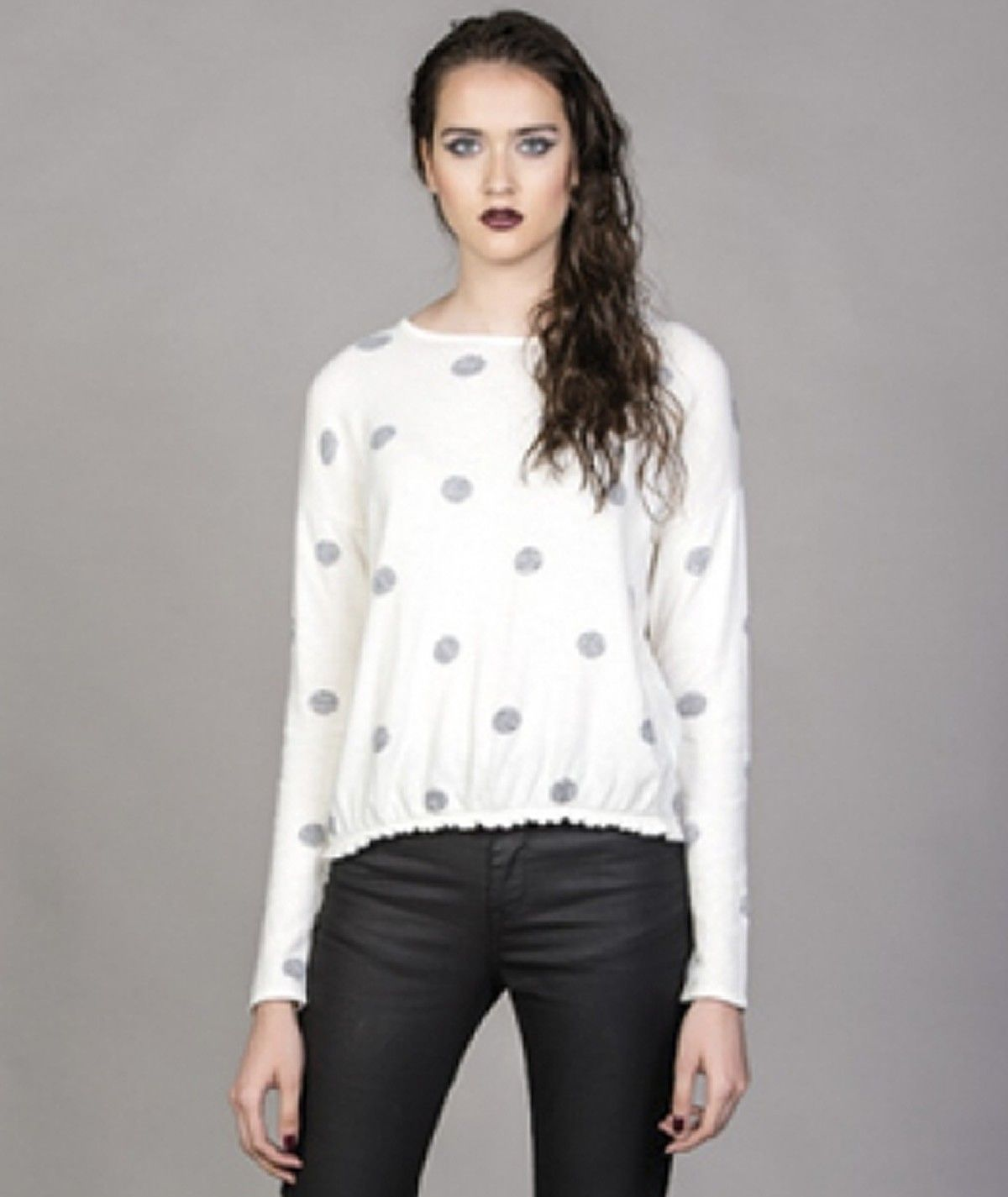 Polka dots sweater