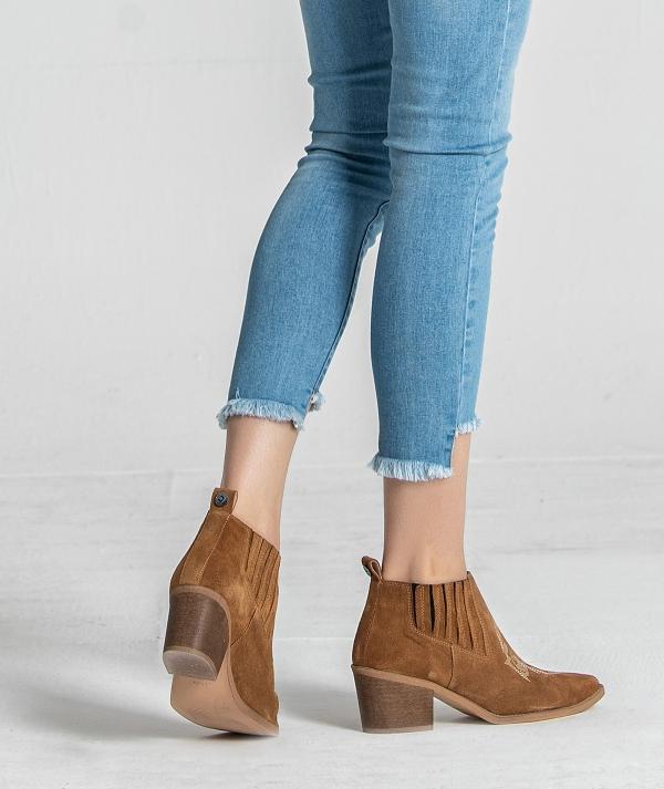 Mid heel boot...