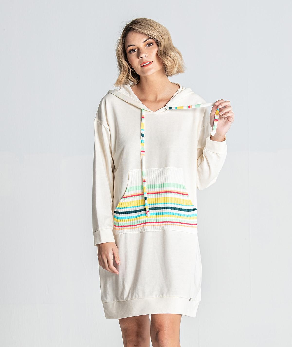 Vestido com bolso tricot