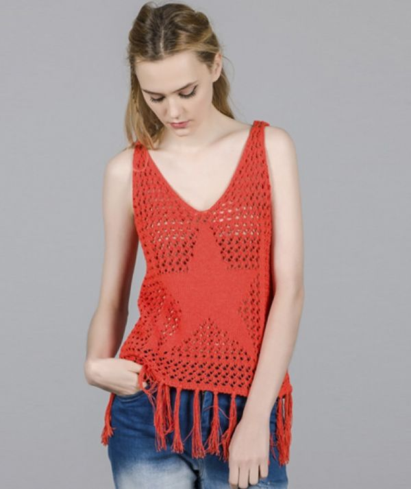 Top with star motif