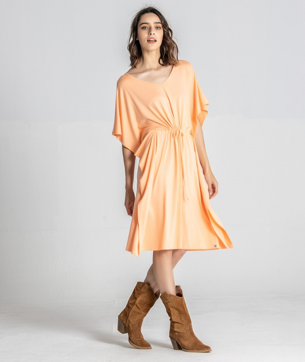 V-neck flowing dress