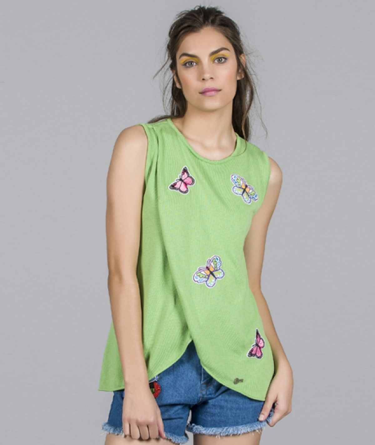 Sweater with butterfly...