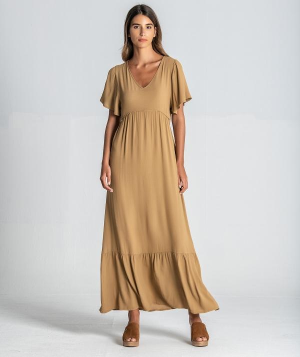 Vestido com franzido