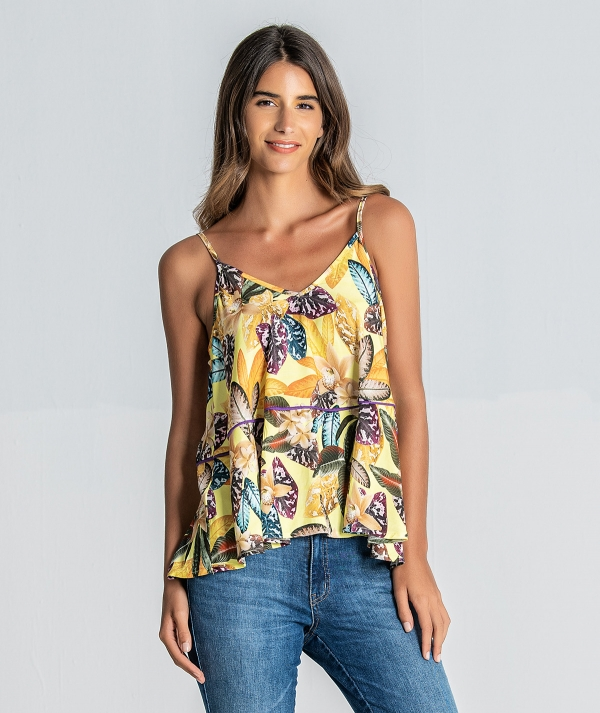 Top with floral...