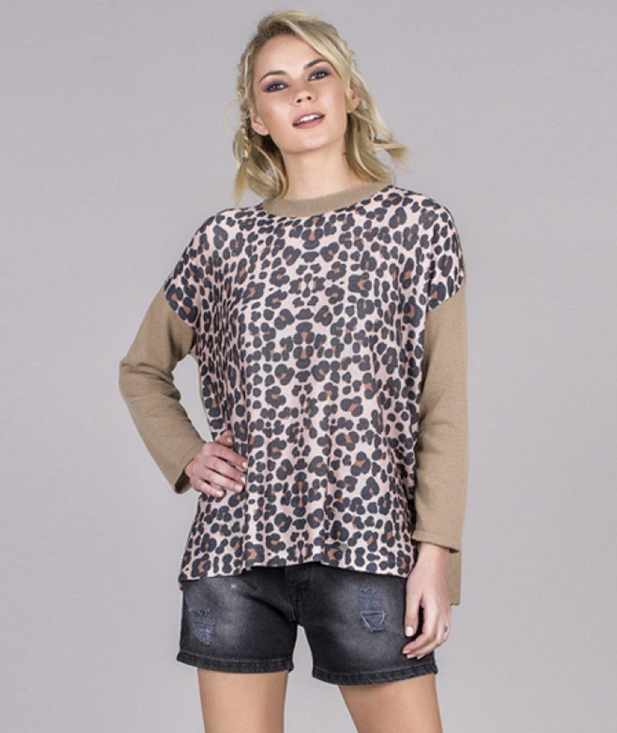 Camisola motivo leopardo