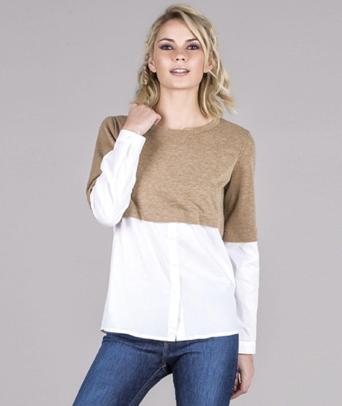 Camisola detalhe camisa