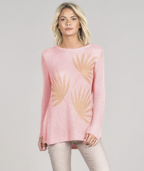 Sweater with leaf...