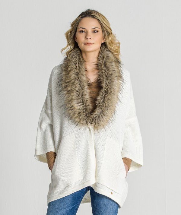 Cardigan with fur...