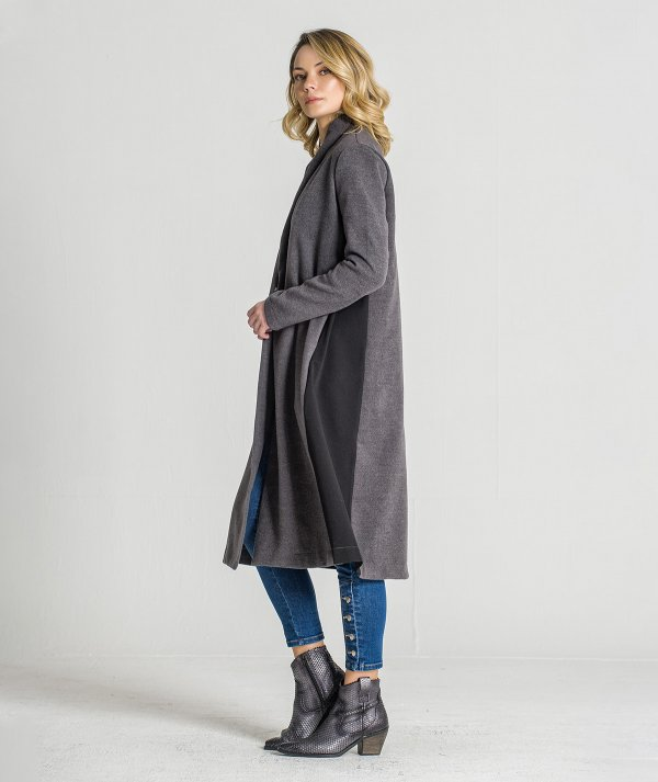 Contrast long coat