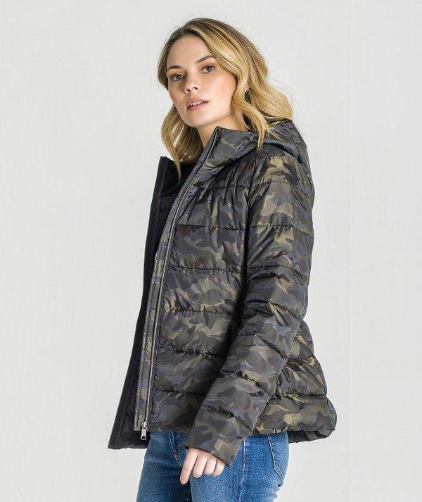 Camouflaged coat
