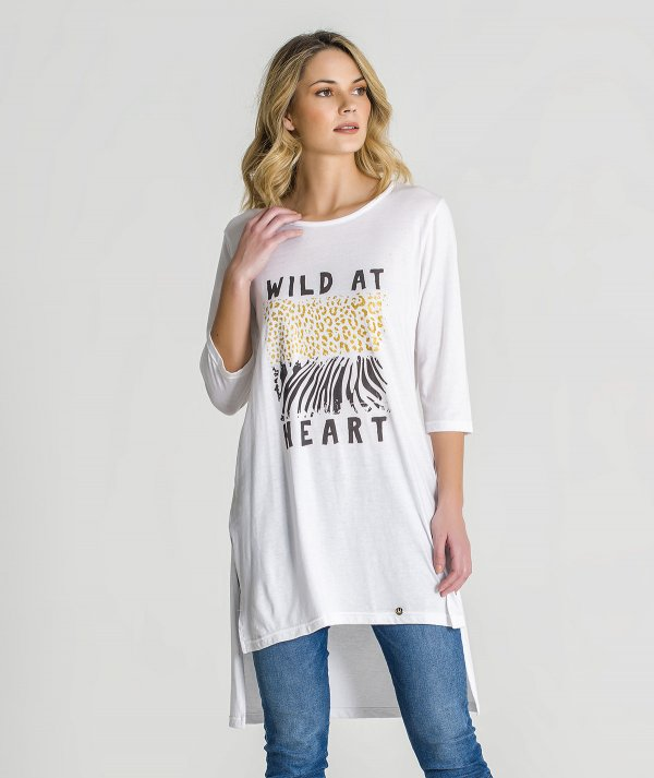 T-shirt with wild...