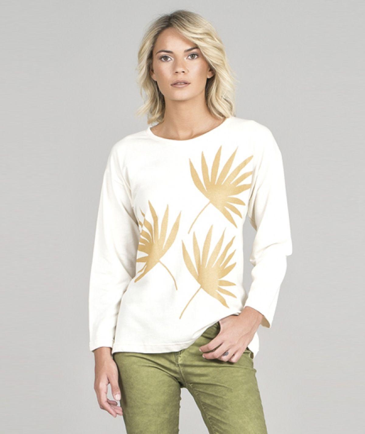 Sweater motivo folhas