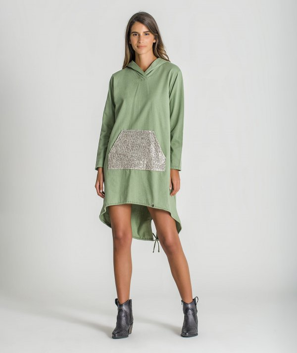 Long sweater with...