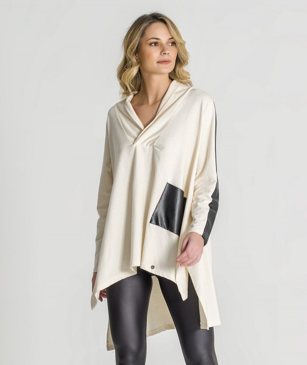 Sweater com napa