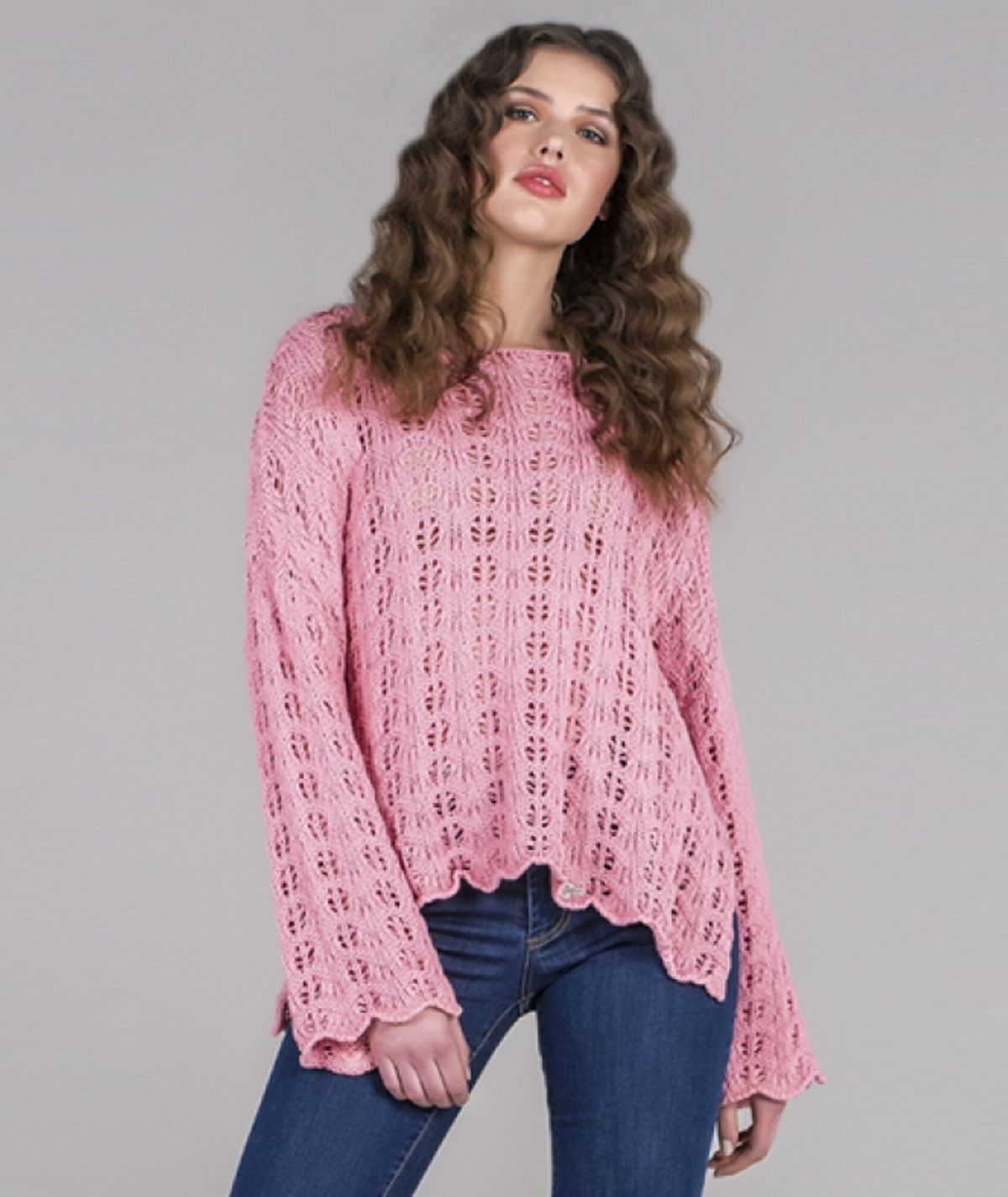 Perforated sweater
