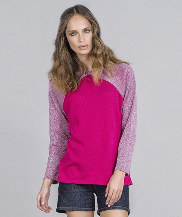 Lurex sleeves...