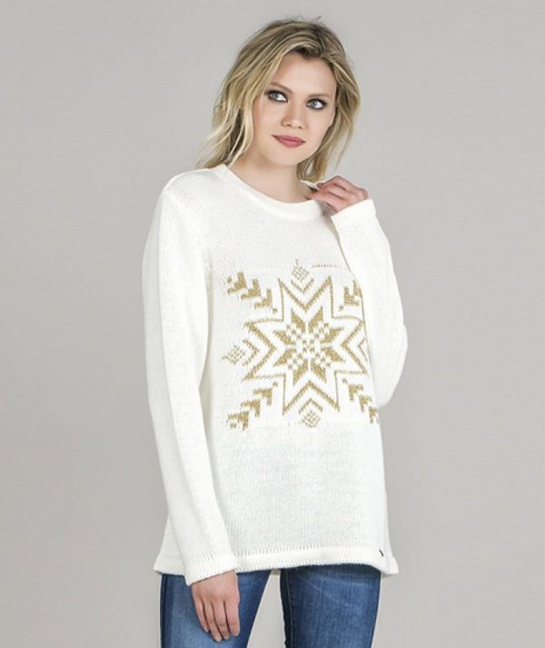 Ice motif sweater