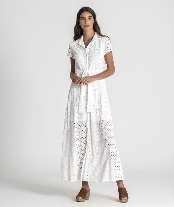 Shirt dress with...