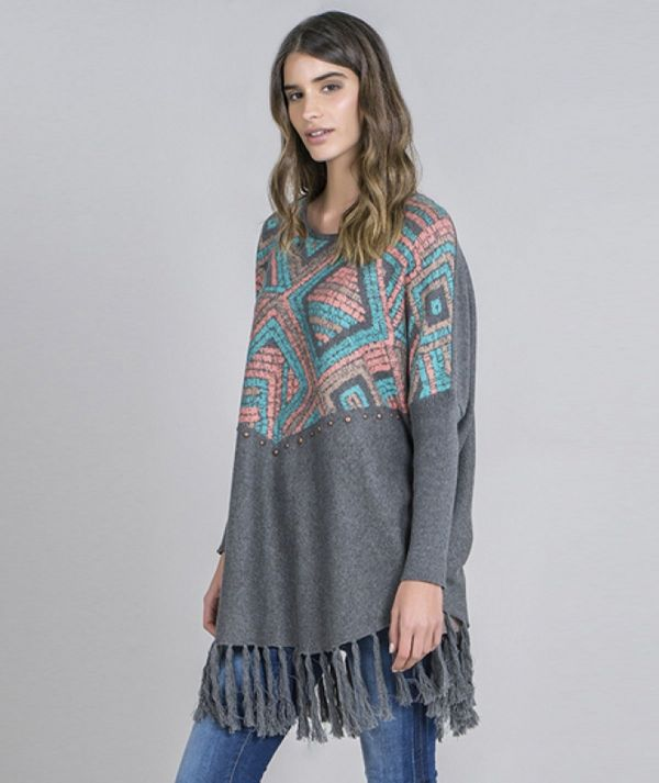 Tunic with tribal...