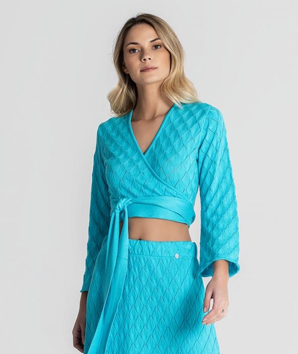Perforated cardigan