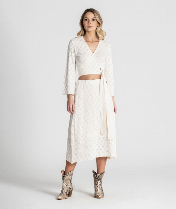 Perforated skirt