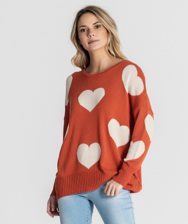 Sweater with hearts