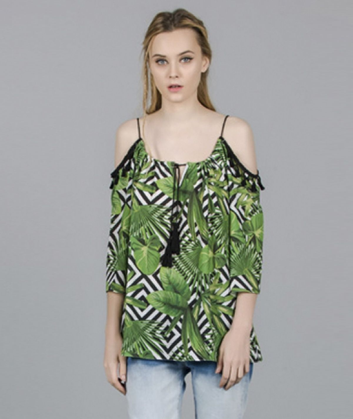 Blusa  estampado palm