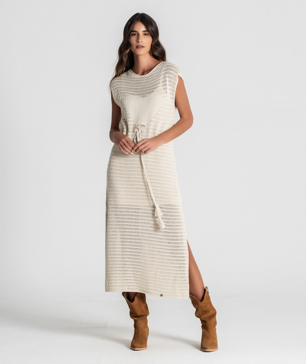 Perforated tunic...