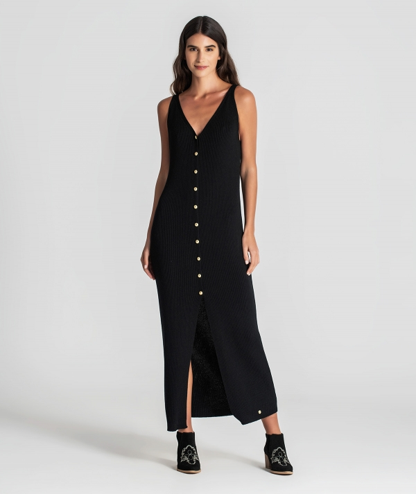 Ribbed dress with...