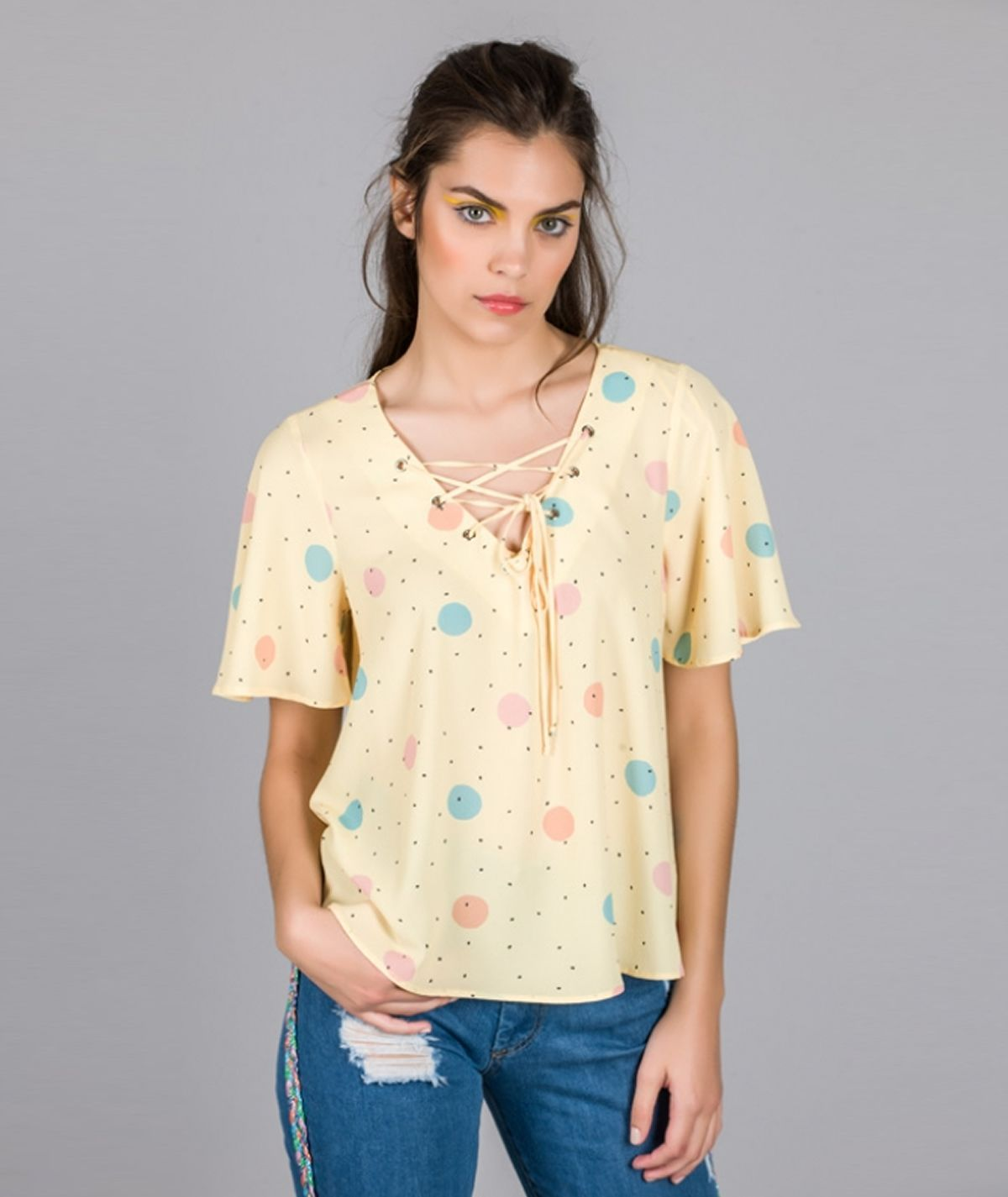 [CHIESSY] Blusa estampado dots