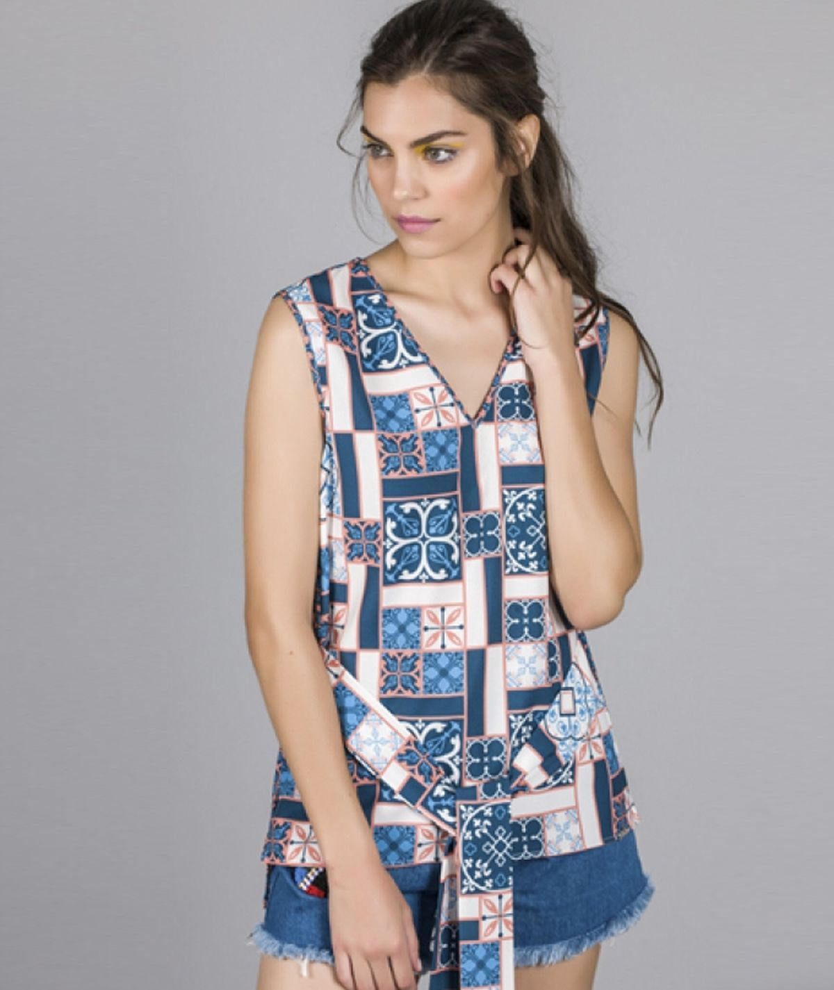 Top  estampado havana