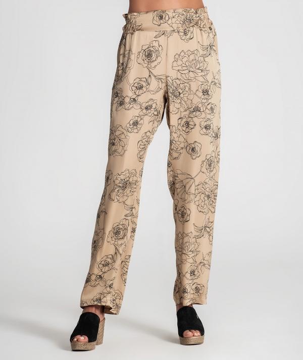 Calças padrão floral