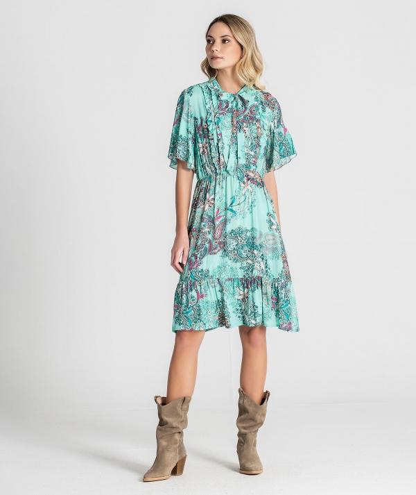 Midi dress with...