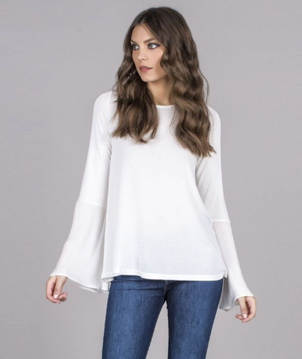 Blouse with two...