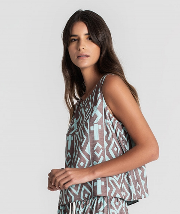 Top with ethnic...