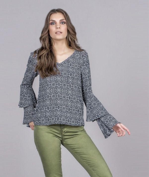 Tribal motif blouse