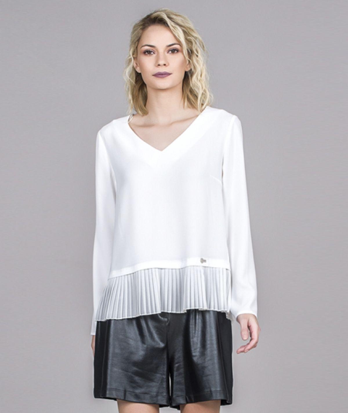 [CHIESSY] Blusa  plissado