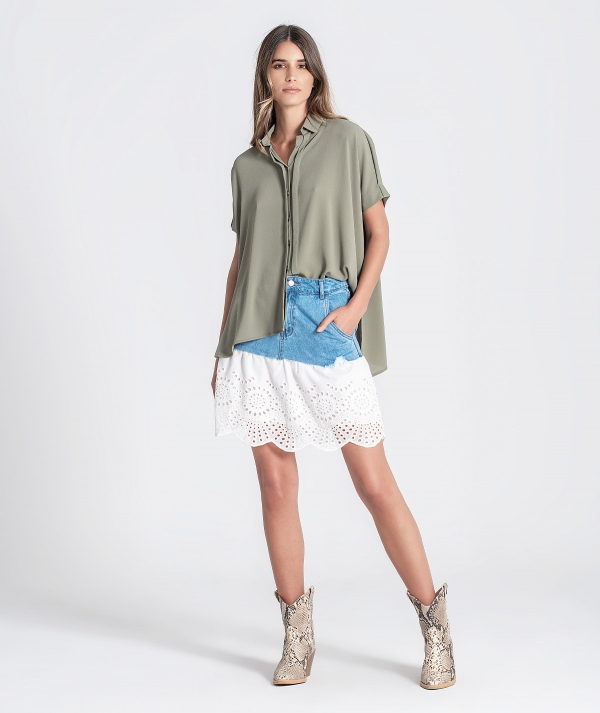 Mini skirt denim