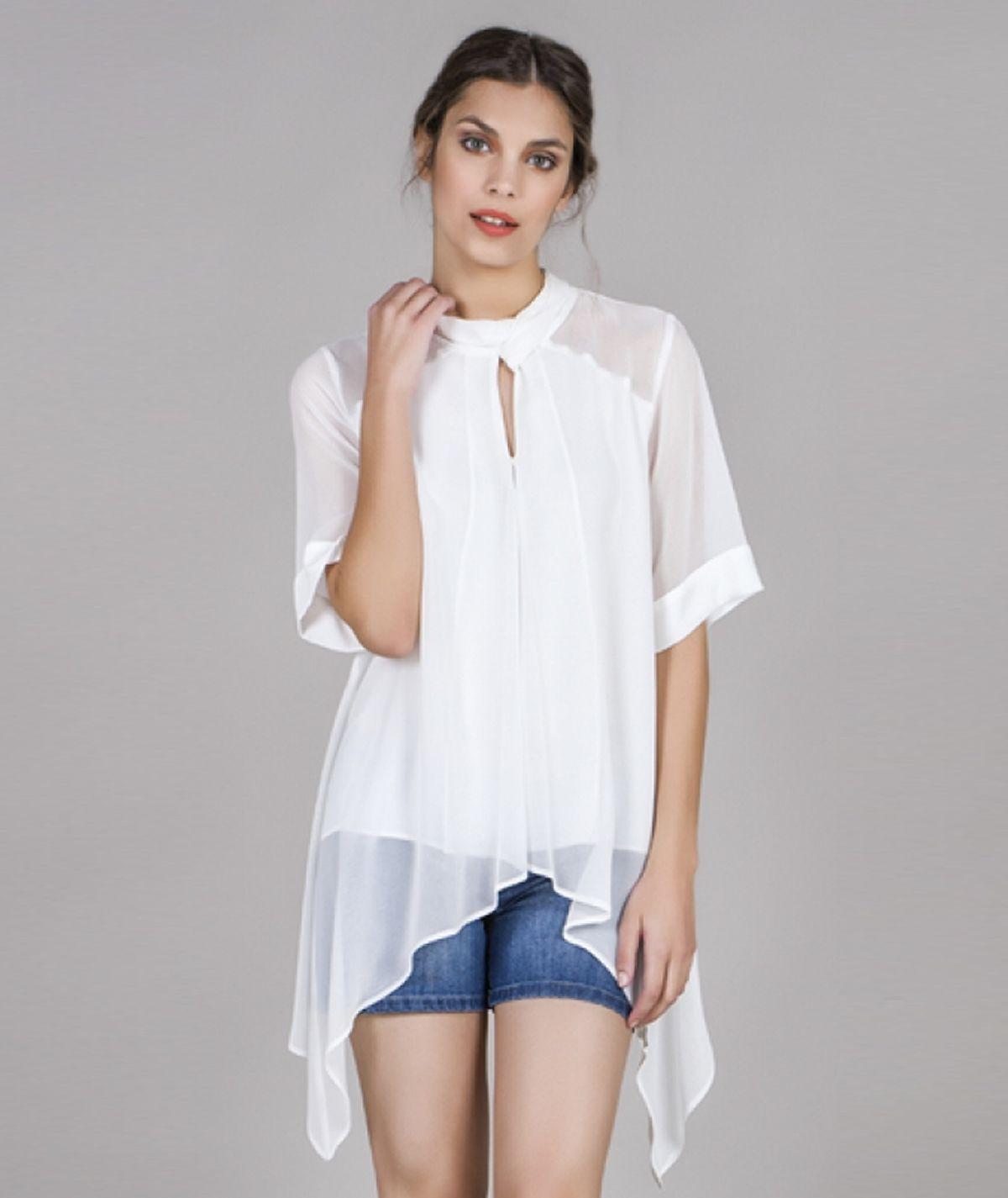 [CHIESSY] Blusa assimétrica