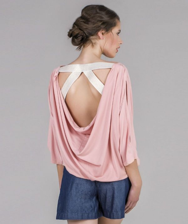 Blouse with back...